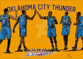 Oklahoma City Thunder by tonetto17