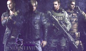 Resident Evil 6 Males by JillValentinexBSAA
