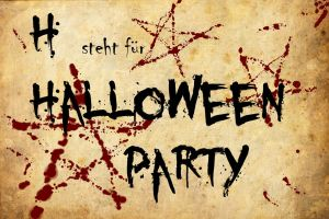 H steht fuer Halloweenparty by AmmoniteFiction
