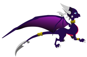 My first vector of Cynder. by Flutterflyraptor