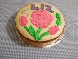 embroidery cake with roses by ailgara