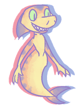 Pastel Shark Mermaid by Madvenomjack