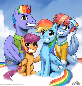 Rainbow Dash's Family by johnjoseco