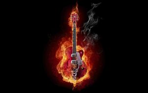 Guitar On Fire the real rock and roll what can do by gawrifort