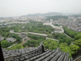 Himeji Castle's view by The42ndTenguJournal