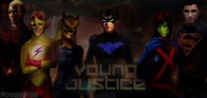 Young Justice - Original Team (Clean) by Mikolov