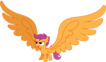 Vector 031 - Big Winged Scootaloo by MPnoir