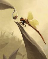 Vain dragonfly by e-will