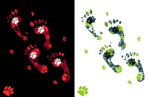 T-shirt design: Paw Prints by Risachantag