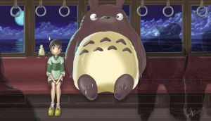 Totoro and Spirited Away by alexmakovsky