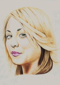 Kaley Cuoco portrait by ask0r