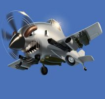 Shark Plane by superhawkins