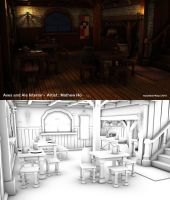 Axes and Ale - Interior - 3D by mhofever