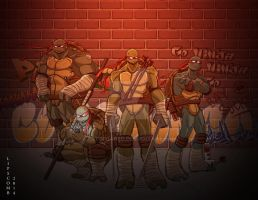 Ninja Turtles Red by artofjared
