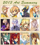2013 Art Summary by loverofscythe