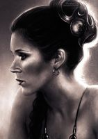 Portrait of Leia. by VarshaVijayan