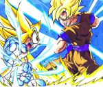 super sonic vs. ssj goku by trunks24