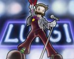 Luigi as Freddy Mercury by suzyage4