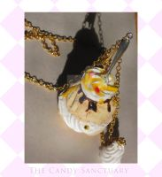 Cream puff necklace by YoursTruly777