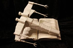 Star Wars X-Wing Book Sculpture by wetcanvas