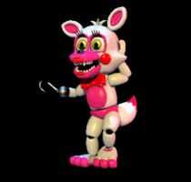 FNAFWORLD - Funtime Foxy [GIF] by TheSitciXD