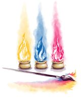 Fire and Watercolor by adiehltwin