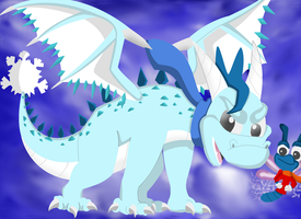Frost The Dragon And Bite The DragonFly- My FC's by Destiny-The-Hedgimon