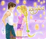 Rapunzel and Flynn by Annrose001