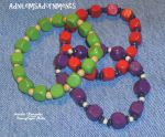 Wooden Bead Stretch Bracelet Trio by RavingEagleMedia