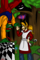 Ari and Raph in... Wonderland? by R2ninjaturtle