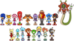Sanic Bewm Chibi Sprite things by Gitzyrulz