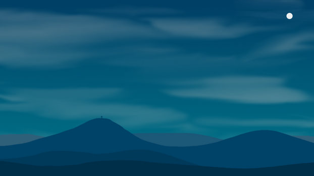 Night landscape by SweetCreeper132PL