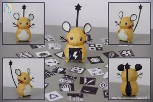 Dedenne Mini Papercraft by aquametal