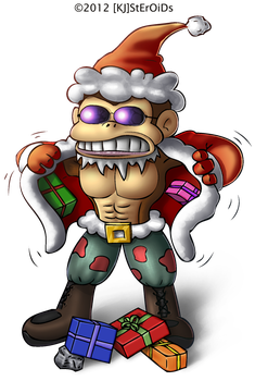 Funky Kong Comes Baring Gifts by kjsteroids