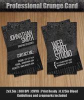Grunge Business Card by Raincutter