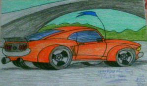 1970 Ford Mustang Mach 1 toon by artluvr4life