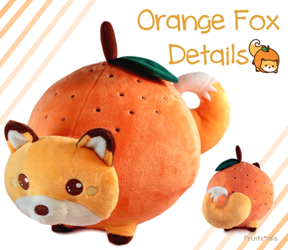 Orange Fox Plush Turn Around by LuckySquidStudios