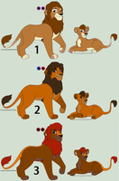 Free Lion Adoptables 1 - CLOSED by Alexoz97-Adopts