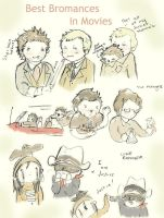 Best Bromances in Movies Sketch Dump by Happy-Bomber