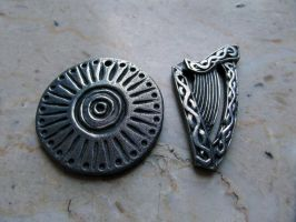 ANCIENT PENDANT and HARP by MassoGeppetto