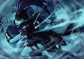 KALISTA ACTION POSE!!! by Mkuchima
