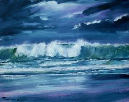 Seascape wave oil paint by Boias