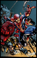 [Battle Artist] Avenging SpiderMan by NimeshMorarji