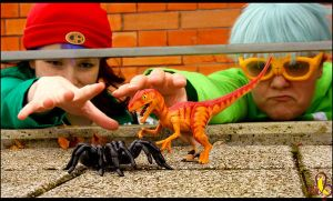 YGO: Spider vs. Dinosaur by Nami06