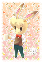 coffee loving rabbit by inano2009