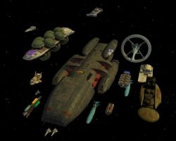 Battlestar Galactica Fleet by Trekkie5000