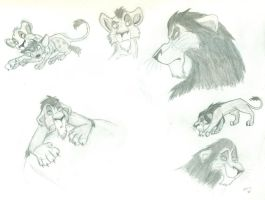 Moar Scar Sketches by wahyawolf