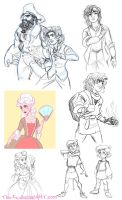 Gangfield Back Story Sketches - November 2014 by The-Ez