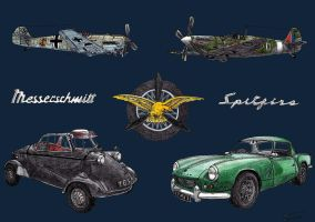 1237.4 - 22-11 - Messerschmitts and Spitfires by TwistedMethodDan