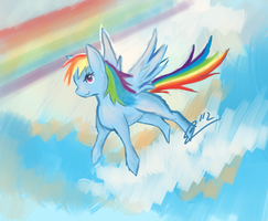 Rainbow Dash by Aerolyx